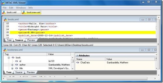 mytec xml editor interface