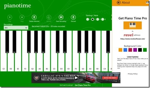 piano windows 8 app