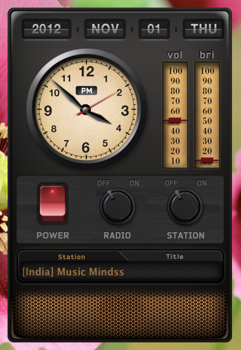 radio clock for mac screenshot