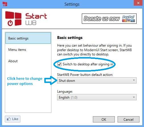 StartW8: Get Start Menu In Windows 8