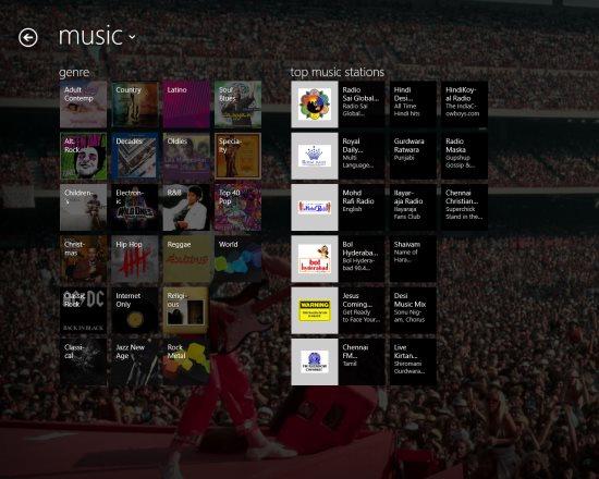 tunein radio music