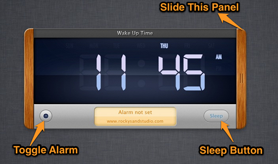 wake up time mac screenshot alarm clock for mac