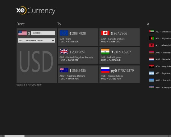 xe currency converter for windows 8