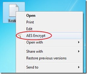 Free File Encryption Software To Encrypt Files From Context Menu