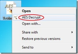 AES Crypt 003 file encryption software