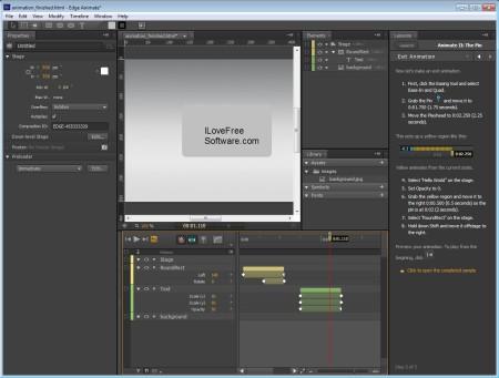 Adobe Edge Animate effects