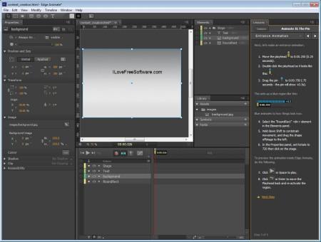 Adobe Edge Animate simple editor