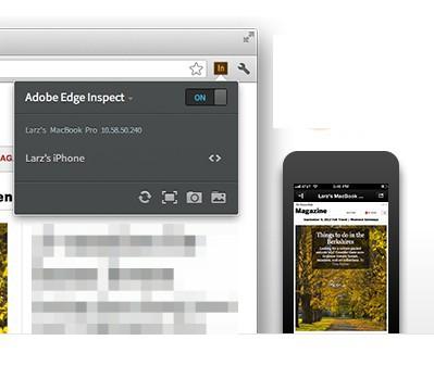 Adobe Edge Inspect default window