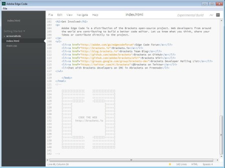Adobe Edge editing HTML