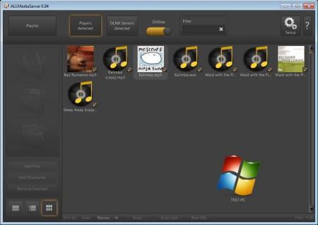 AllMediaServer file loaded to playlist