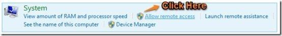 Allow remote access windows 8