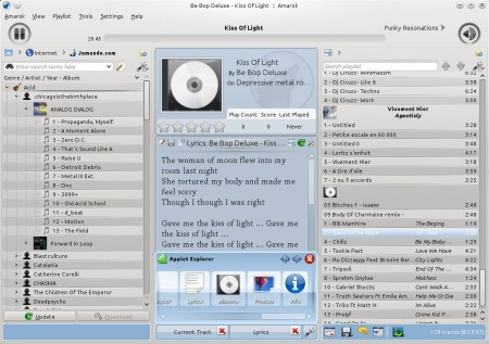 Amarok adding applets jamendo songs