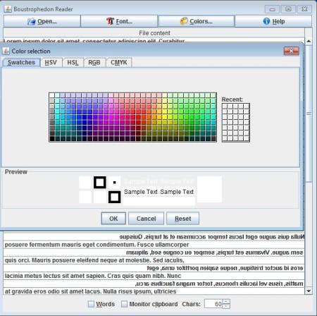 Boustrophedon Speed Reader change color