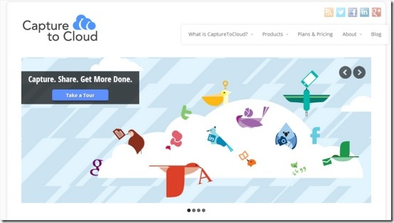 Capture to Cloud 01 free online collaboration tool