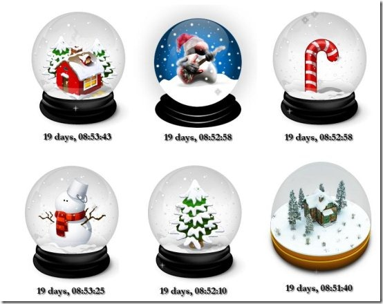 Christmas Snow Globe Countdown skins