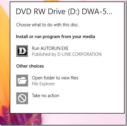 Disable AutoPlay in Windows 8
