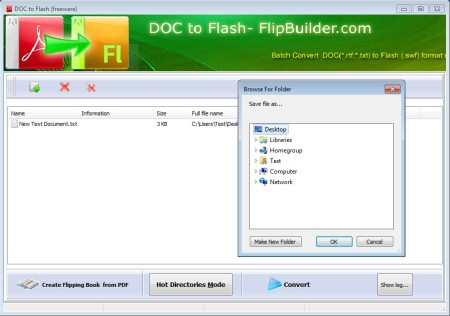 Doc To Flash selected files