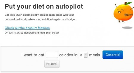 Eat This Much Online meal planner