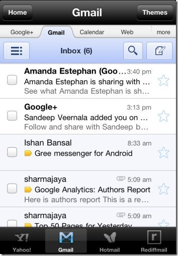 iPhone Email Client to Access Yahoo, Gmail, Outlook, Rediffmail