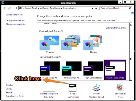 Enable Transparency In Windows 8