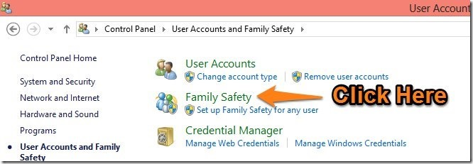 Family Safety windows 8