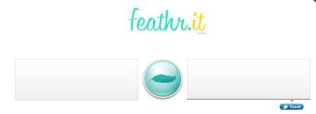 Feathr.it free tweet shortening service default window
