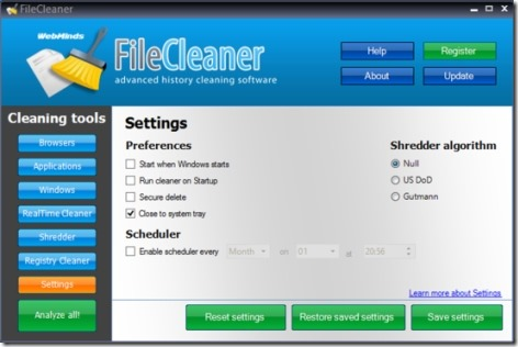 File Cleaner 01 delete temporary files