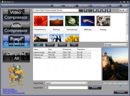 File Sizer image convert compress