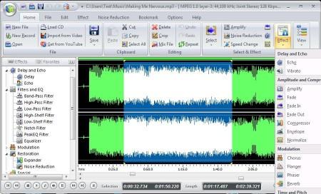 Free Audio Editor editing adding effects