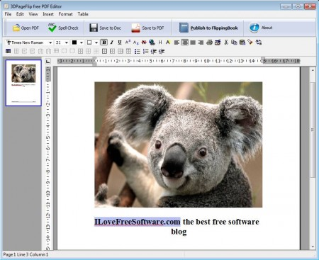 Free PDF Editor added text and images
