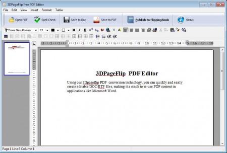 Free PDF Editor defult widnow