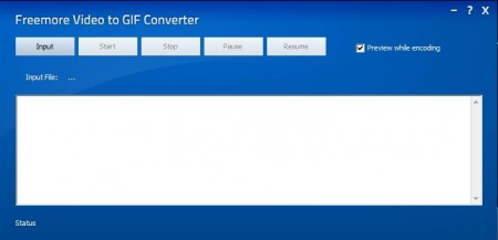 Freemore Video To GIF Converter default window