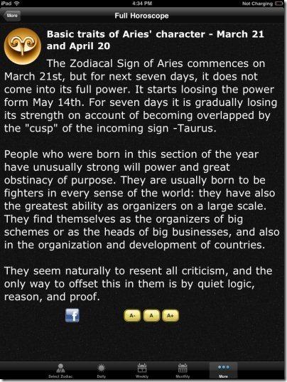 Full Horoscope Traits