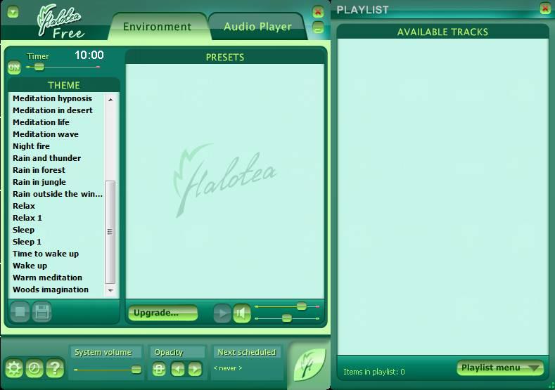 Halotea free audio software default window
