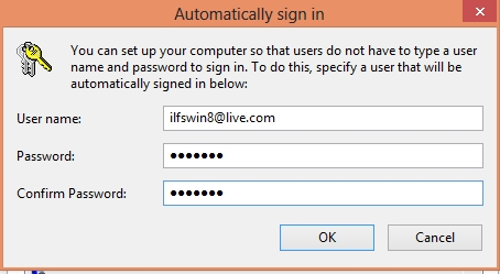 How To Automatically Logon In Windows 8