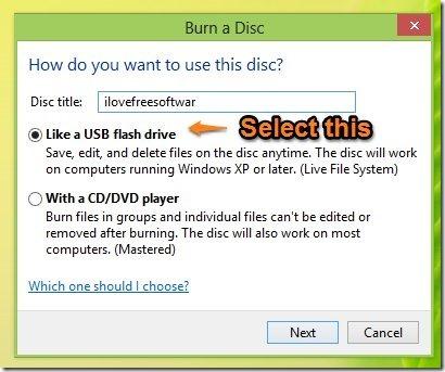 How To Burn A CD DVD In Windows 8