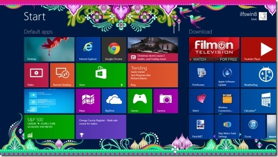 How To Change The Start Screen Background In Windows 8