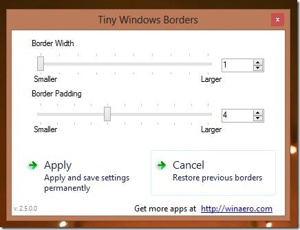 How To Resize Window Border Size in Windows 8