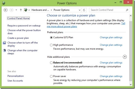 How To Use Power Options In Windows 8