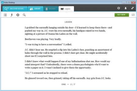 Kobo Desktop reading book