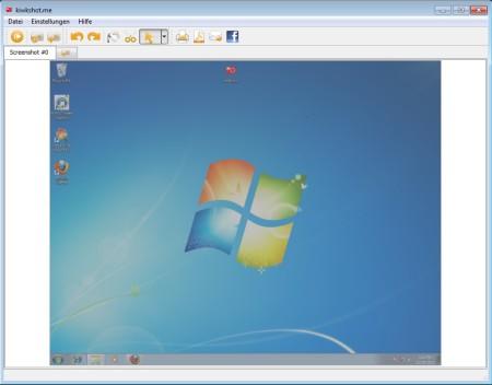 KwikShot free screenshot taking software default widnow
