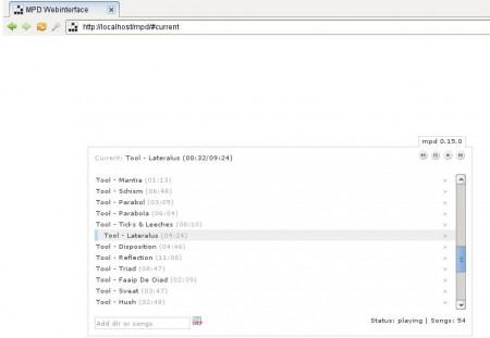 Music Player Daemon music streaming server