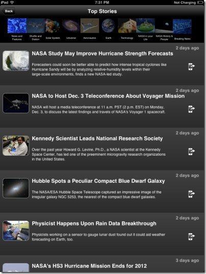 NASA App News