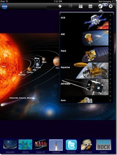 NASA App Satellites