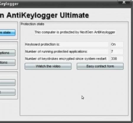 NextGen AntiKeylogger working