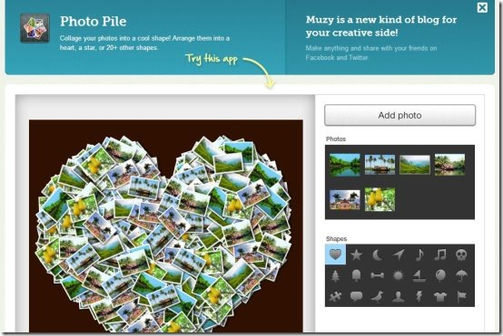 Photo Pile online collage maker