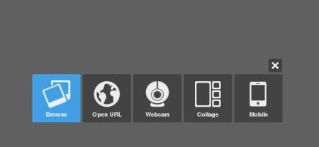 Pixlr Express online image editor default window