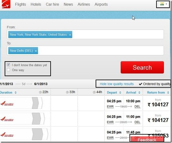 whichairline.com to compare cheap airline tickets