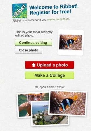 Ribbet uploading image