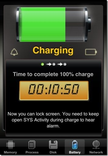 SYS Activity Manager Charging